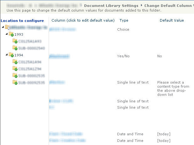 Metadata Defaults configuration in Library Settings