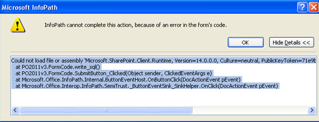 User Error when DLLs go missing